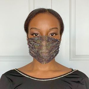 Rhinestone Mesh Fashion Face Mask
